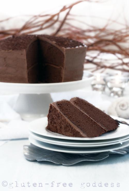 Dairy Free Chocolate Cake  Gluten Free Goddess Recipes Gluten Free Chocolate Layer Cake