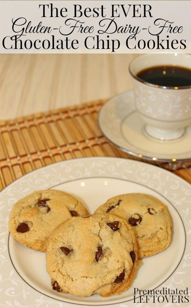 Dairy Free Chocolate Chip Cookies  Gluten Free Dairy Free Chocolate Chip Cookies Recipe