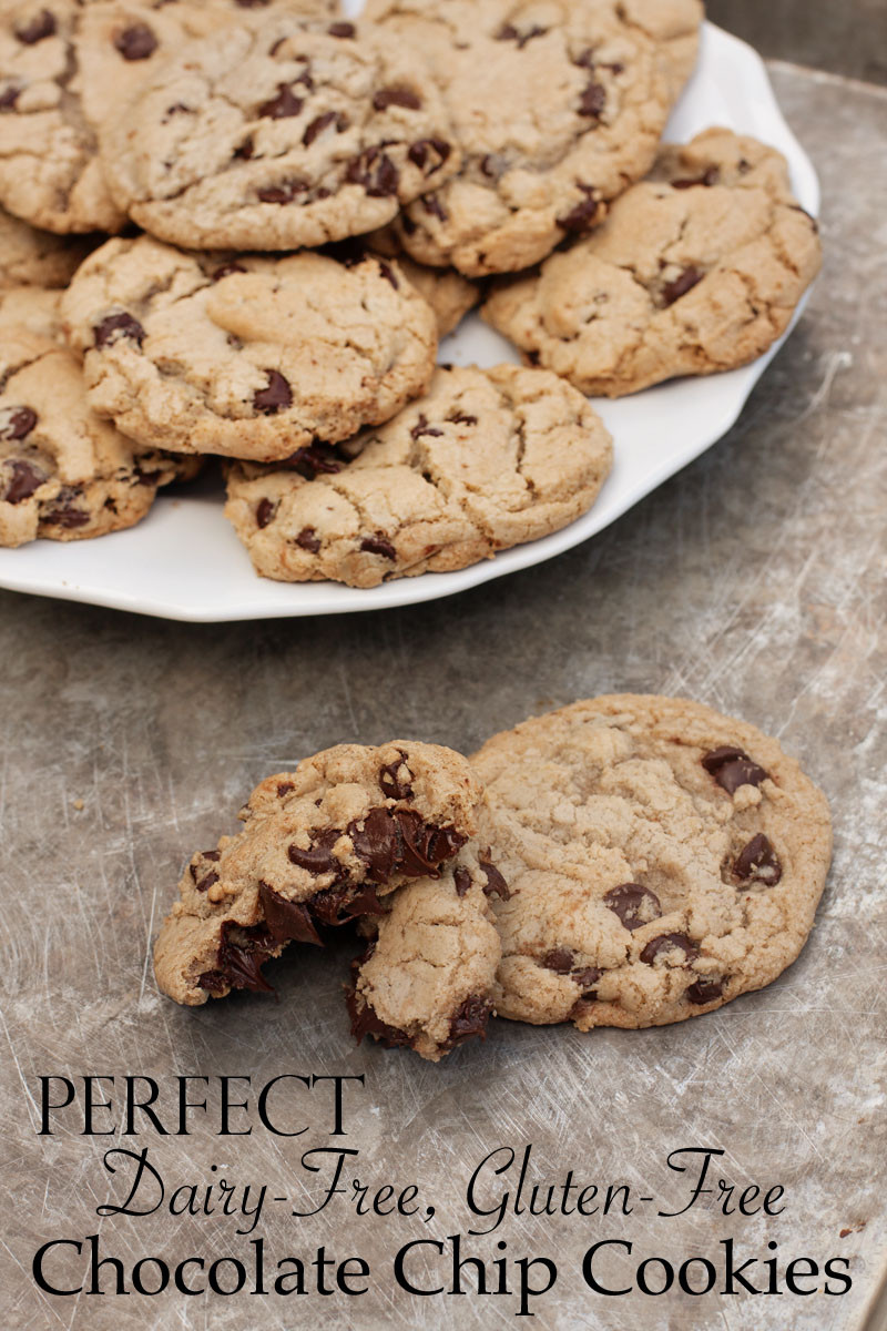 Dairy Free Chocolate Chip Cookies  perfect dairy free gluten free chocolate chip cookies
