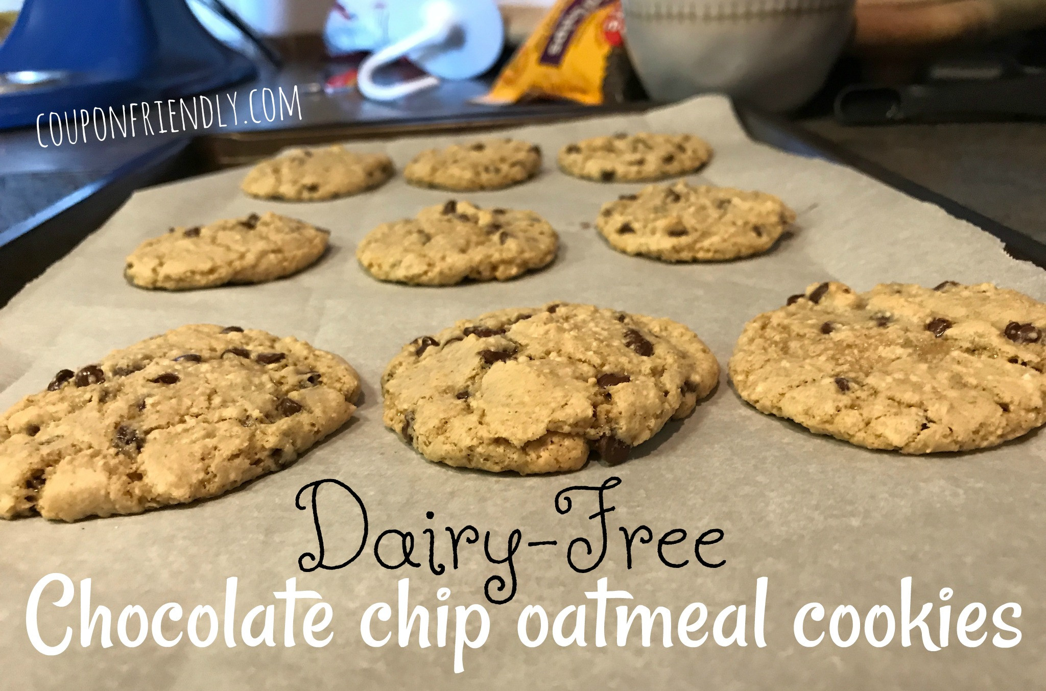 Dairy Free Chocolate Chip Cookies  Dairy Free Chocolate Chip Oatmeal Cookies