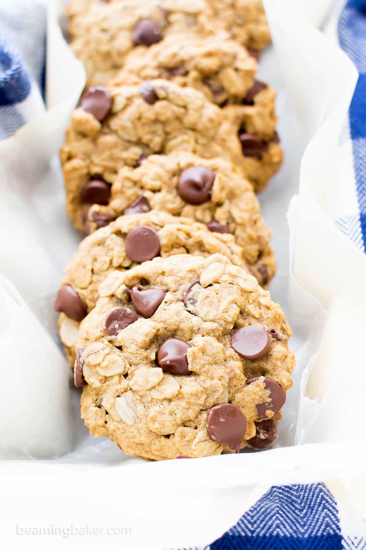 Dairy Free Chocolate Chip Cookies  Gluten Free Vegan Oatmeal Chocolate Chip Cookies V GF