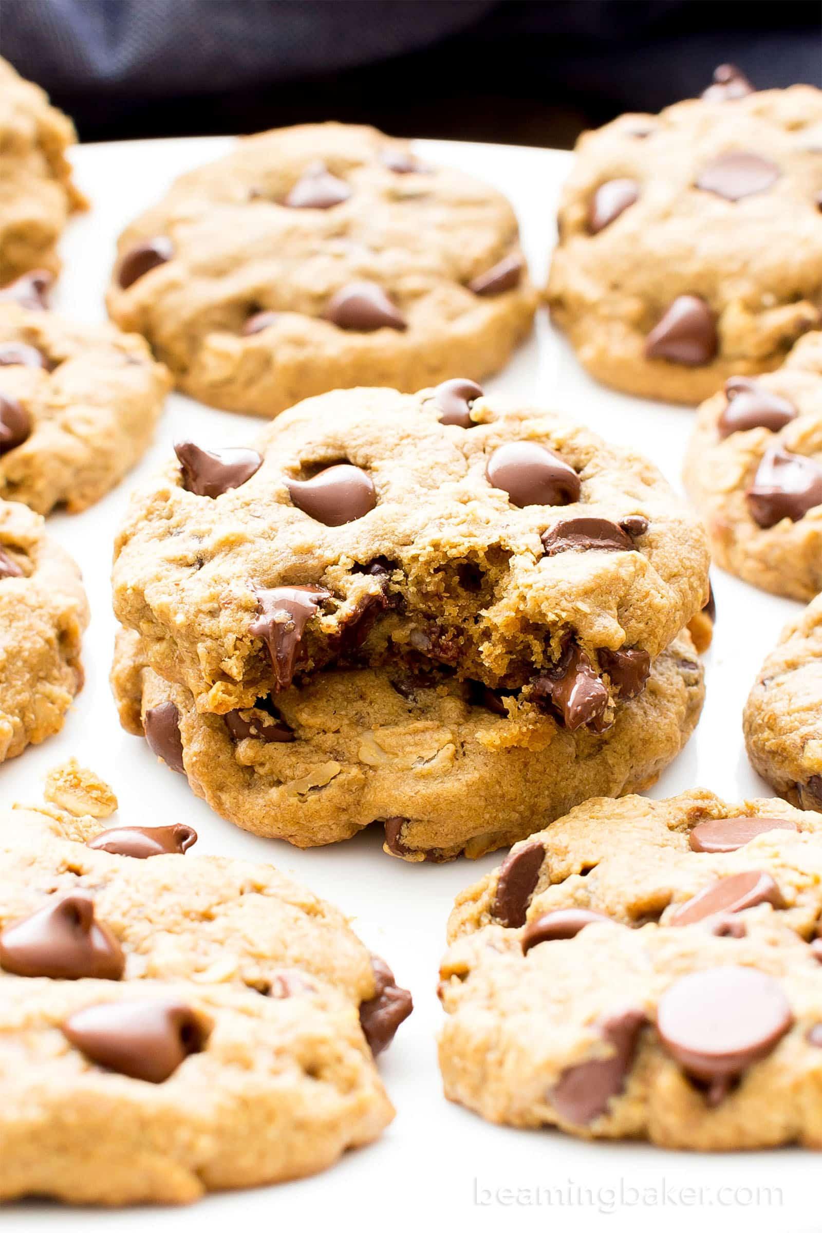 Dairy Free Chocolate Chip Cookies  Gluten Free Vegan Oat Flour Chocolate Chip Cookies V GF
