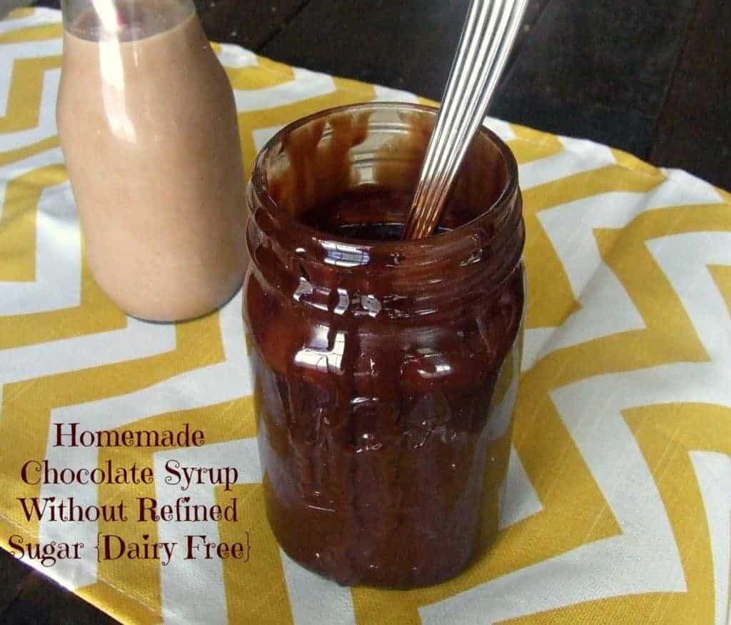 Dairy Free Chocolate Sauce  Homemade Chocolate Syrup Paleo Dairy & Refined Sugar Free