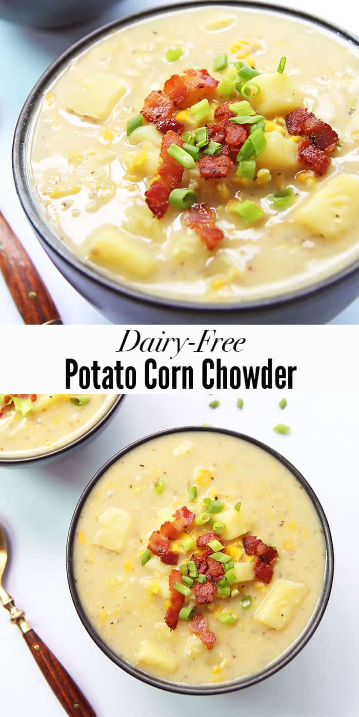 Dairy Free Chowder  Potato Corn Chowder with Bacon – LeelaLicious