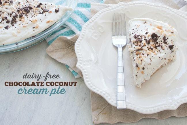 Dairy Free Coconut Cream Pie  Dairy Free Chocolate Coconut Cream Pie