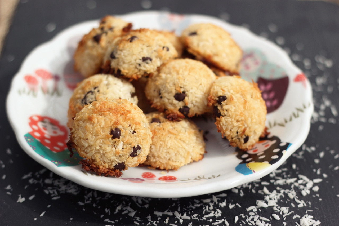 Dairy Free Coconut Macaroons  Chocolate Chip Coconut Macaroons Gluten free Dairy