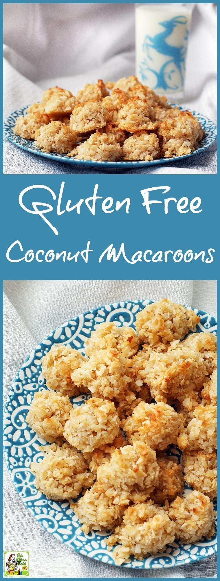 Dairy Free Coconut Macaroons  Gluten Free Coconut Macaroons