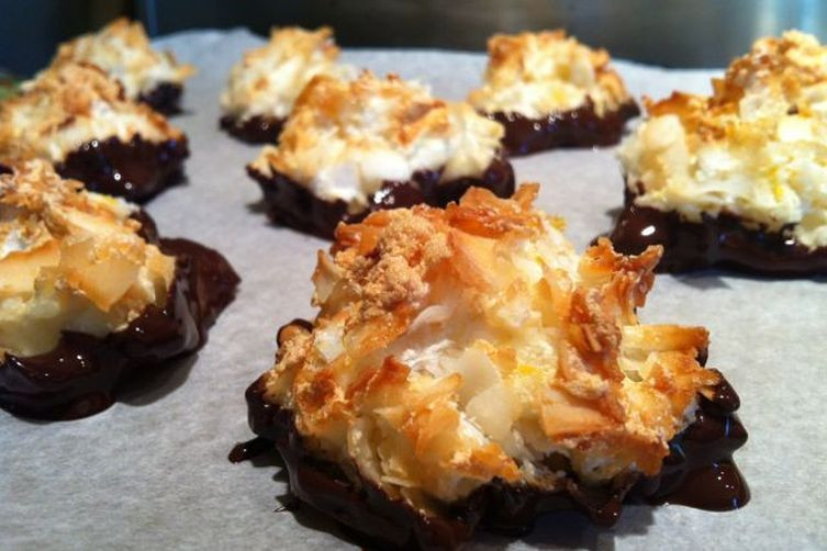 Dairy Free Coconut Macaroons  Chocolate Dipped Coconut Macaroons gluten free dairy