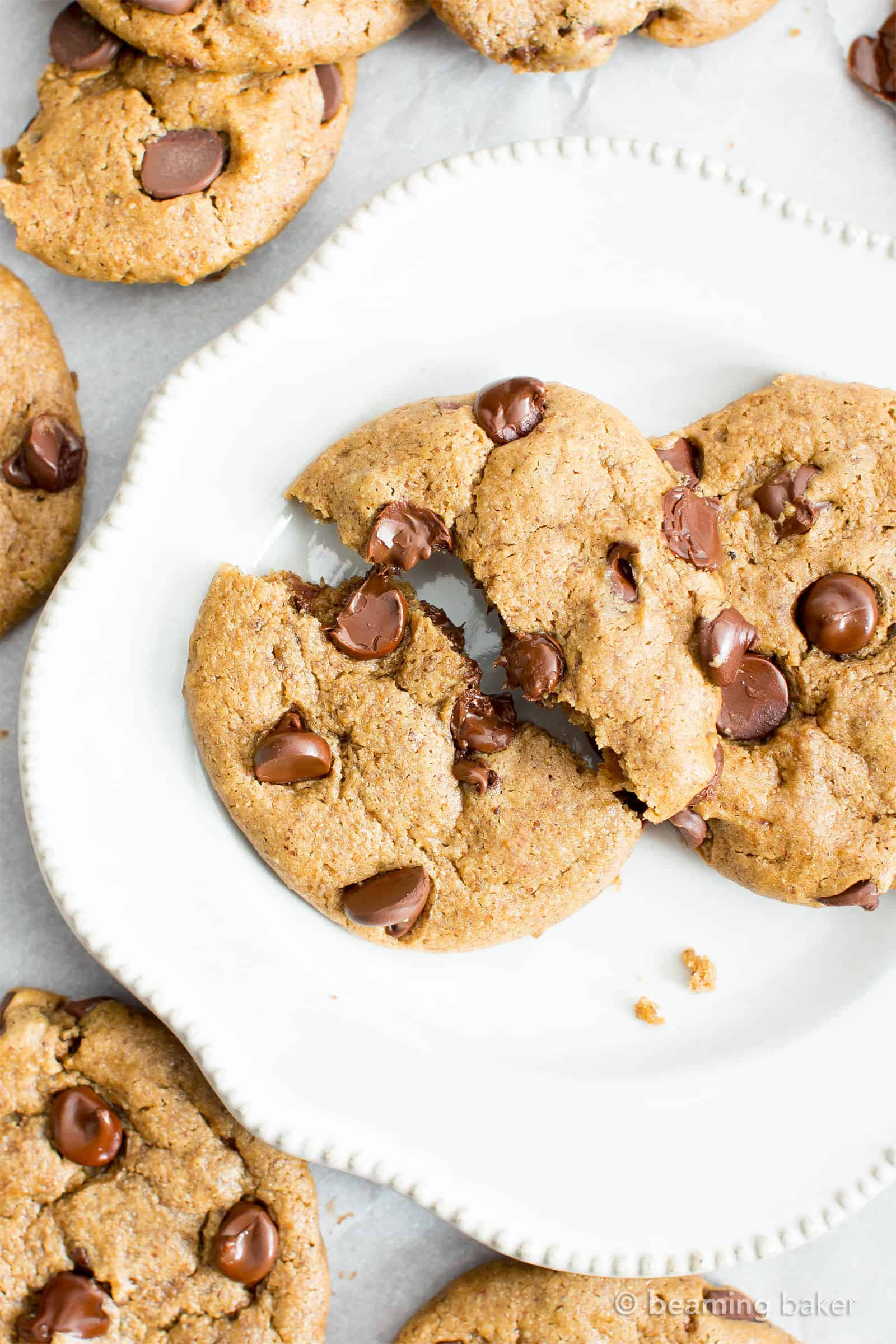 Dairy Free Cookie Recipes  Gluten Free Almond Butter Chocolate Chip Cookies Vegan