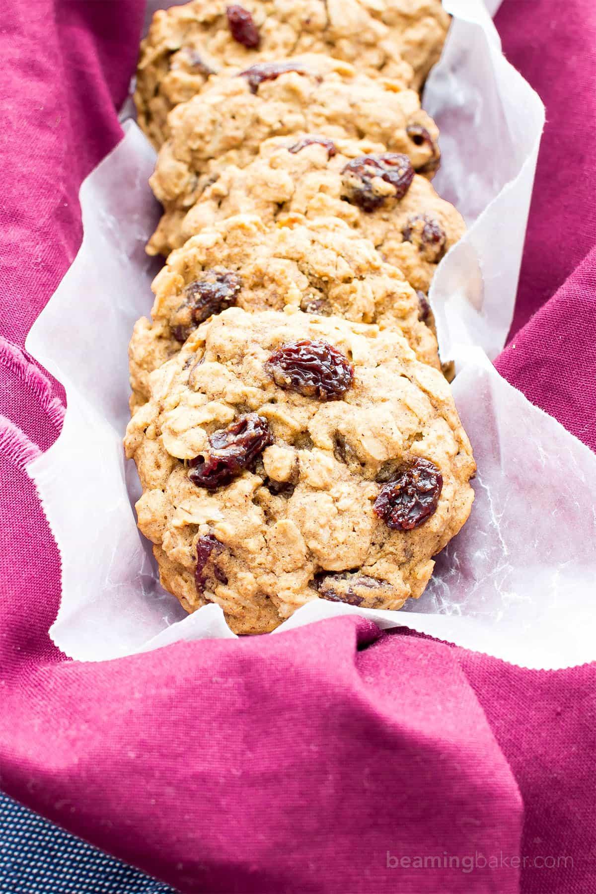 Dairy Free Cookie Recipes  Easy Gluten Free Vegan Oatmeal Raisin Cookies V GF
