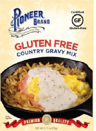 Dairy Free Country Gravy  Pioneer Brand Gluten Free Country Gravy Mix 3 Packet Pack