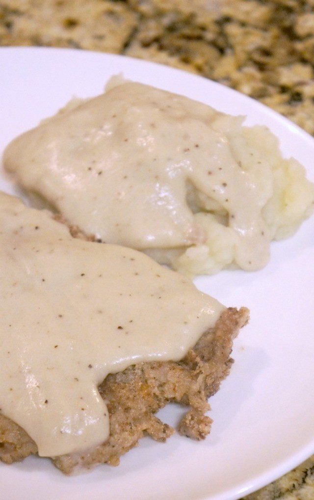 Dairy Free Country Gravy  Gluten Free Free Country Fried Steak Rays of Bliss