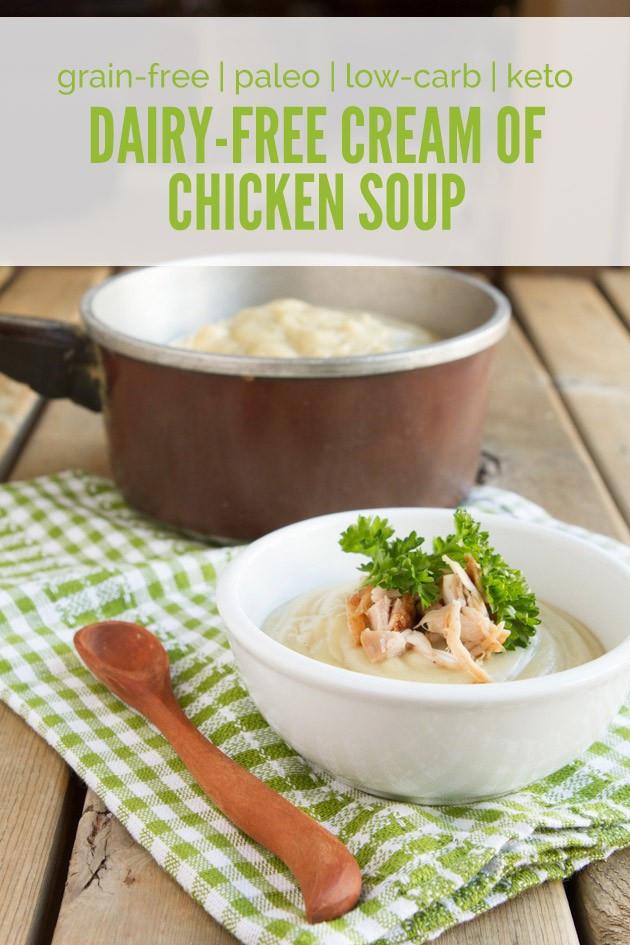 Dairy Free Cream Of Chicken Soup  Keto Dairy free Cream of Chicken Soup
