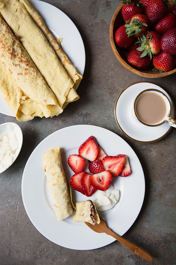 Dairy Free Crepes  Coconut Crepes Gluten Free & Dairy Free Recipe