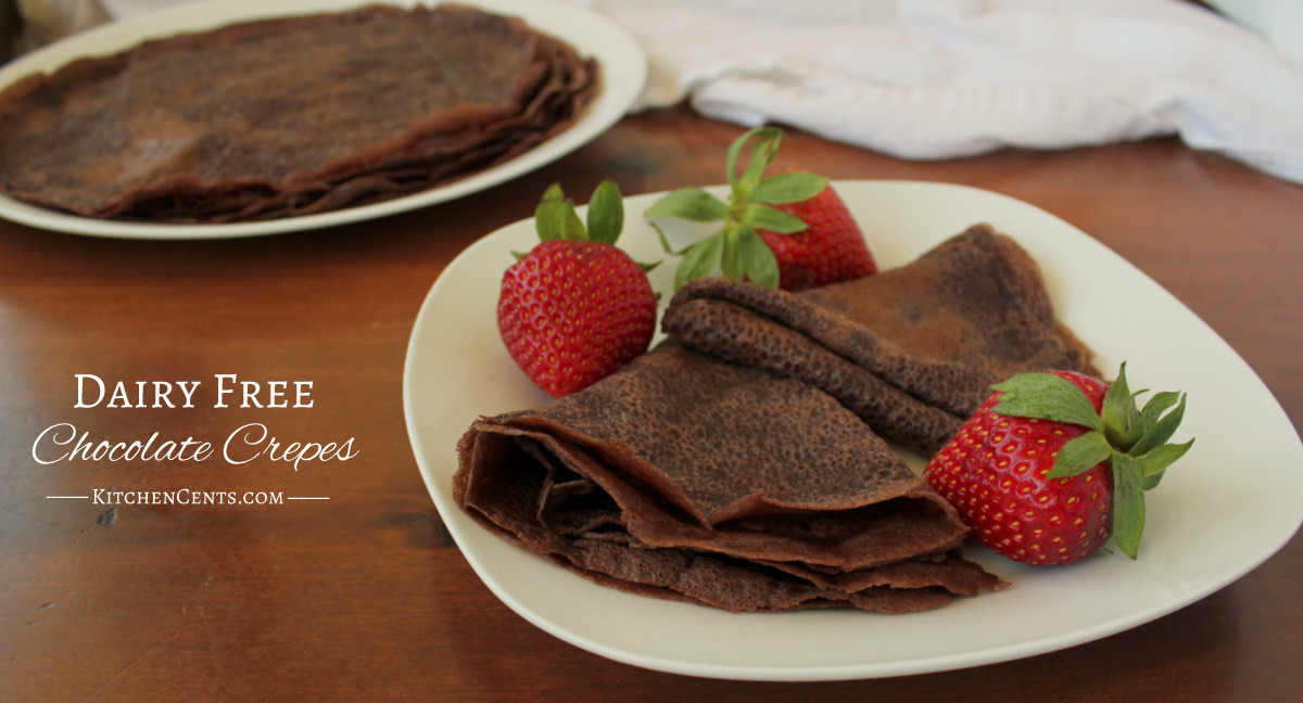 Dairy Free Crepes  Dairy Free Chocolate Crepes