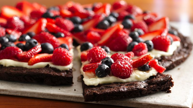 Dairy Free Dessert Recipes Gluten Free Brownie and Berries Dessert Pizza recipe from