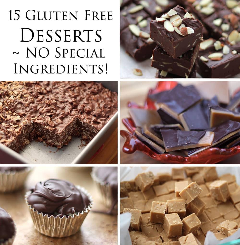 Dairy Free Desserts  15 Delicious Gluten Free Desserts NO special ingre nts
