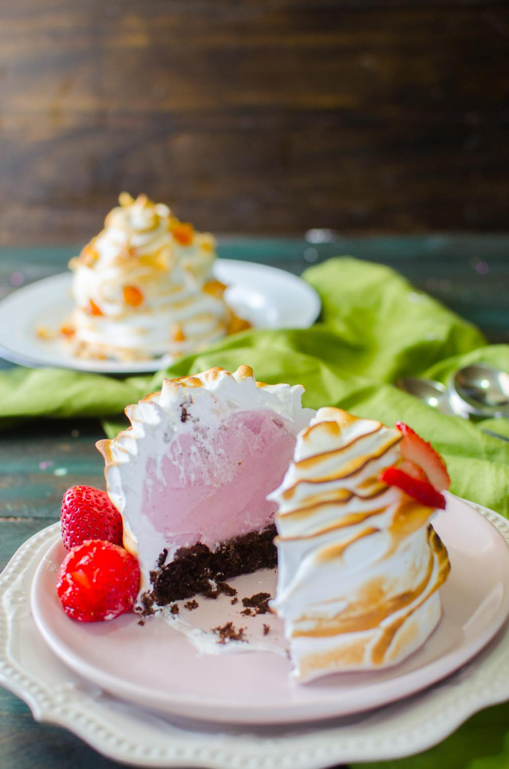 Dairy Free Desserts  Dairy Free Individual Baked Alaska with a Meringue Piping