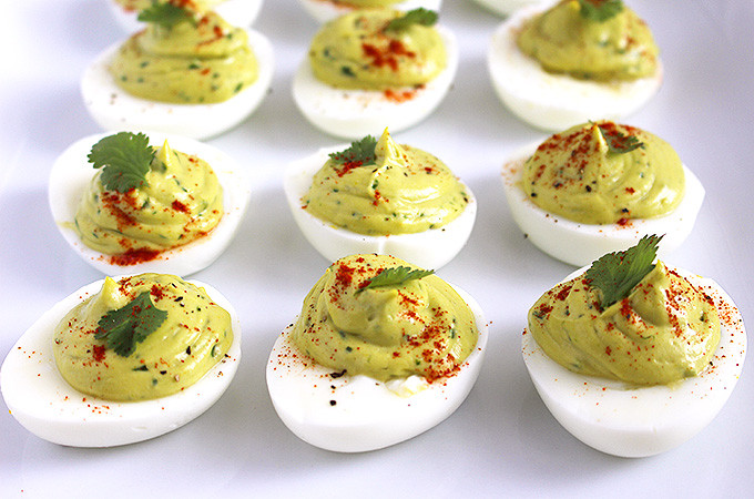 Dairy Free Deviled Eggs  Dairy Free Avocado Deviled Eggs FitLiving Eats