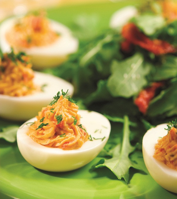 Dairy Free Deviled Eggs  Dreamy No Mayo Deviled Eggs Go Dairy Free