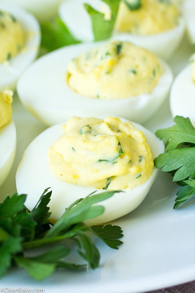 Dairy Free Deviled Eggs  Paleo Herbed Deviled Eggs dairy free low carb
