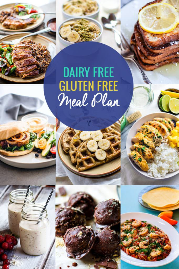Dairy Free Diet Recipes  Healthy Dairy Free Gluten Free Meal Plan Recipes