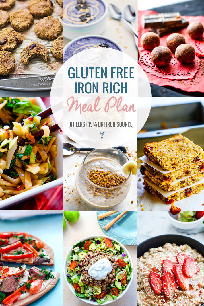 Dairy Free Dinner Ideas  Iron Rich Healthy Gluten Free Meal Plan Ideas DRI or