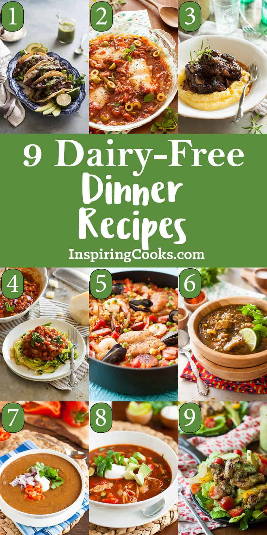 Dairy Free Dinner Ideas  9 of the Best Ever Dairy Free Dinner Recipes Dairy Free