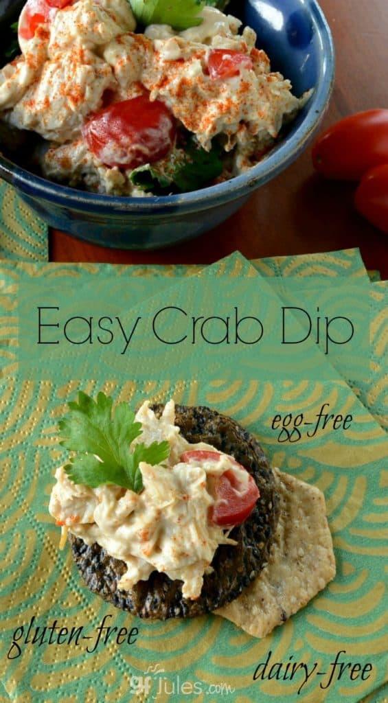 Dairy Free Dip Recipes  Easy Gluten Free Crab Dip Gluten free recipes gfJules