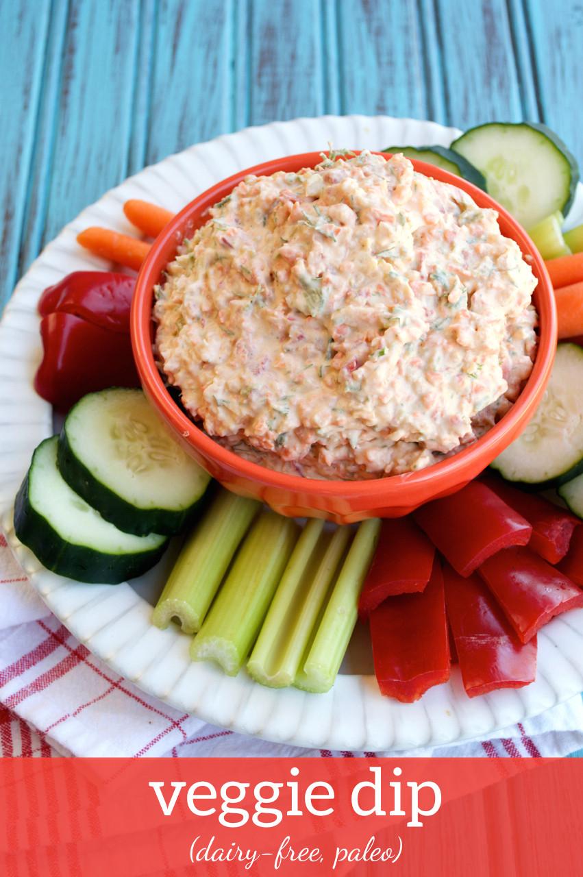 Dairy Free Dip Recipes  Paleo and Vegan Friendly Dairy free Veggie Dip Recipe