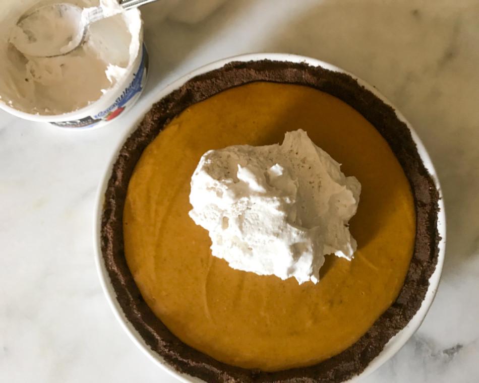 Dairy Free Egg Free Pumpkin Pie  Almost No Bake Pumpkin Pie dairy free egg free gluten