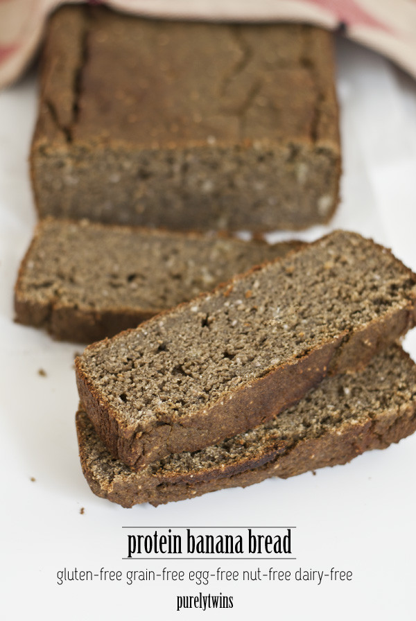 Dairy Free Egg Free Recipes  protein banana bread gluten grain nut dairy and egg free