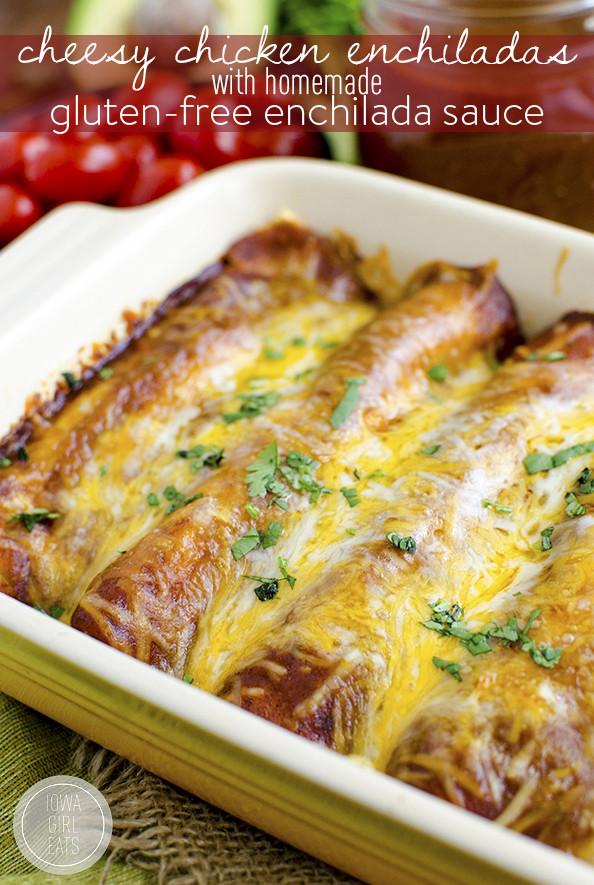 Dairy Free Enchiladas  Cheesy Chicken Enchiladas with Homemade Gluten Free