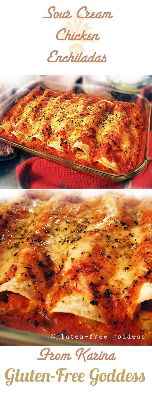 Dairy Free Enchiladas  Gluten Free Goddess Recipes Sour Cream Chicken Enchiladas