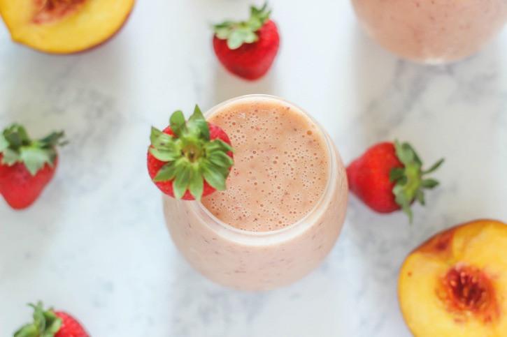 Dairy Free Fruit Smoothies  Strawberry Peach Smoothie
