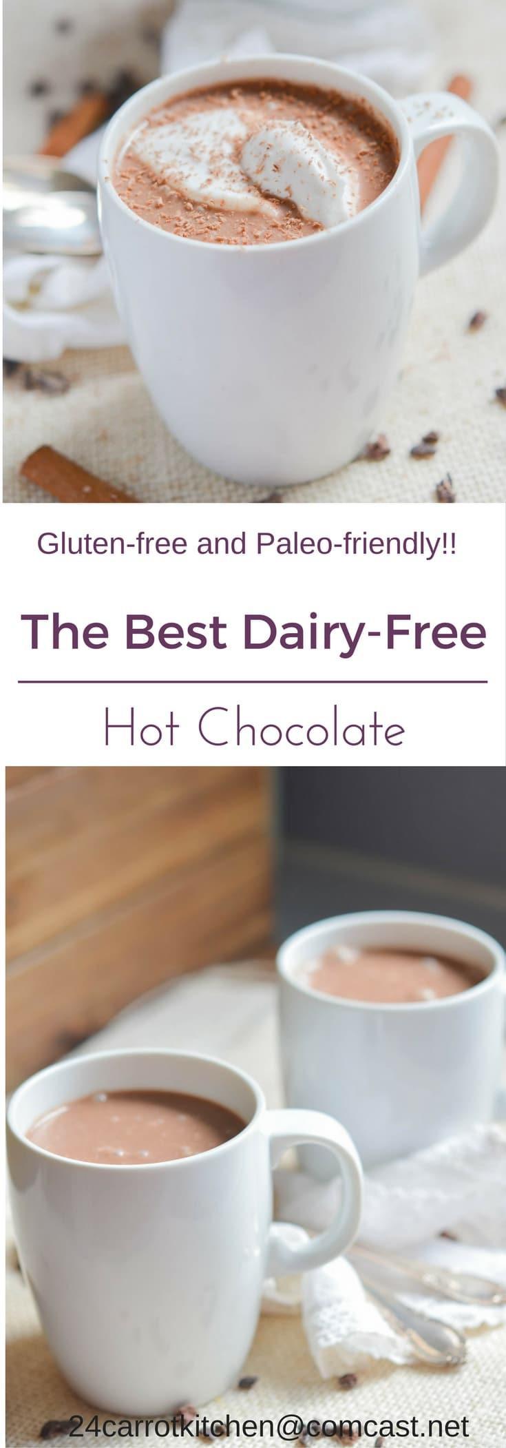Dairy Free Hot Chocolate  Dairy free Hot Chocolate PIN 24 Carrot Kitchen 24