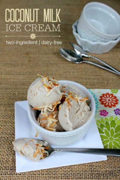 Dairy Free Ice Cream Maker Recipes  2 Ingre nt Coconut Milk Ice Cream no machine required