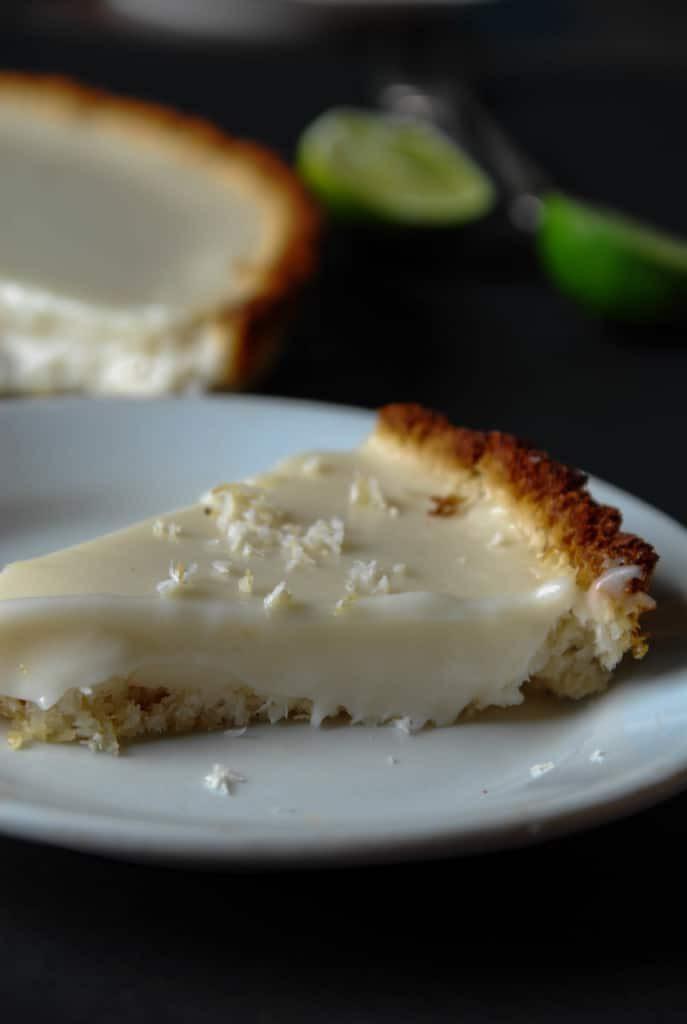 Dairy Free Key Lime Pie With Coconut Milk  Vegan Key Lime Pie with Coconut Crust