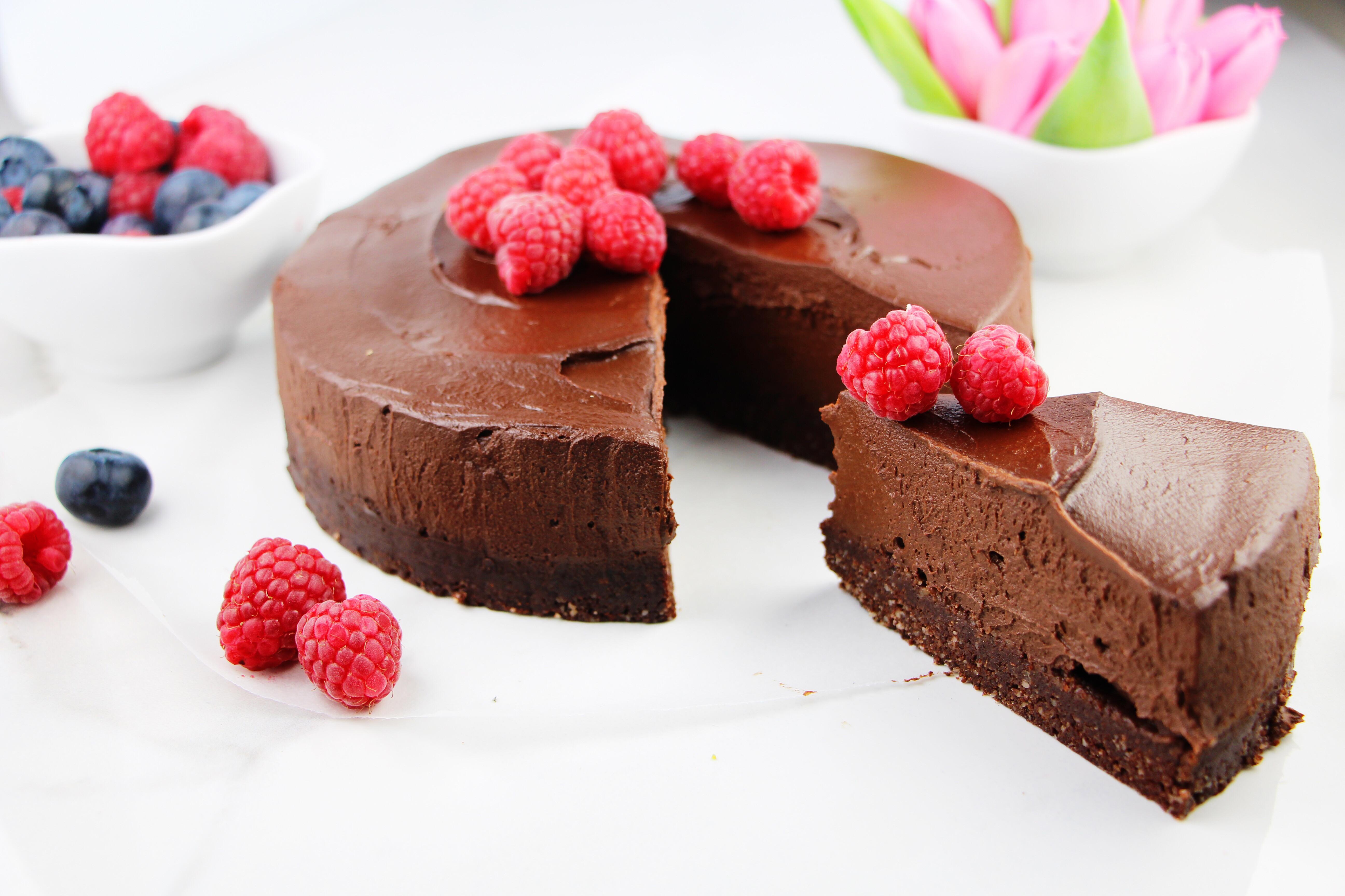 Dairy Free Mousse  Chocolate mousse cake Vegan Raw Paleo Gluten Sugar