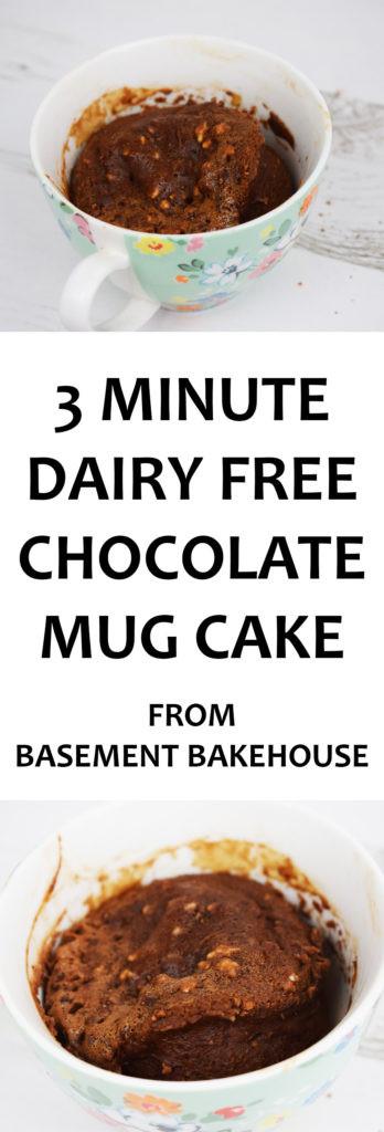 Dairy Free Mug Cake  3 Minute Dairy Free Chocolate Mug Cake Basement Bakehouse