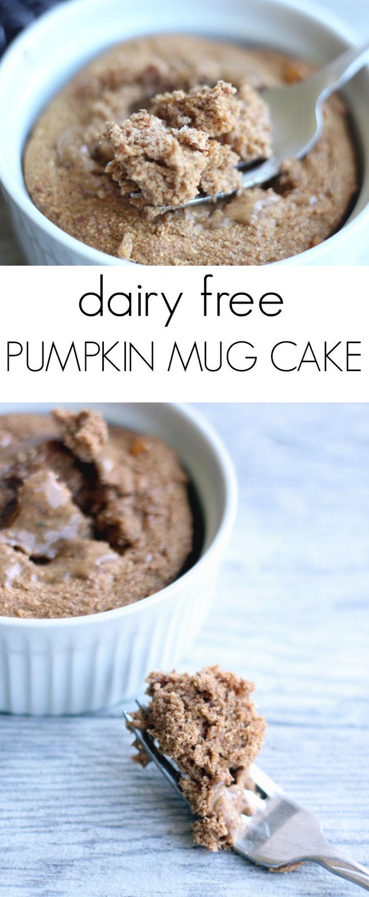Dairy Free Mug Cake  Dairy Free Pumpkin Mug Cake Recipe
