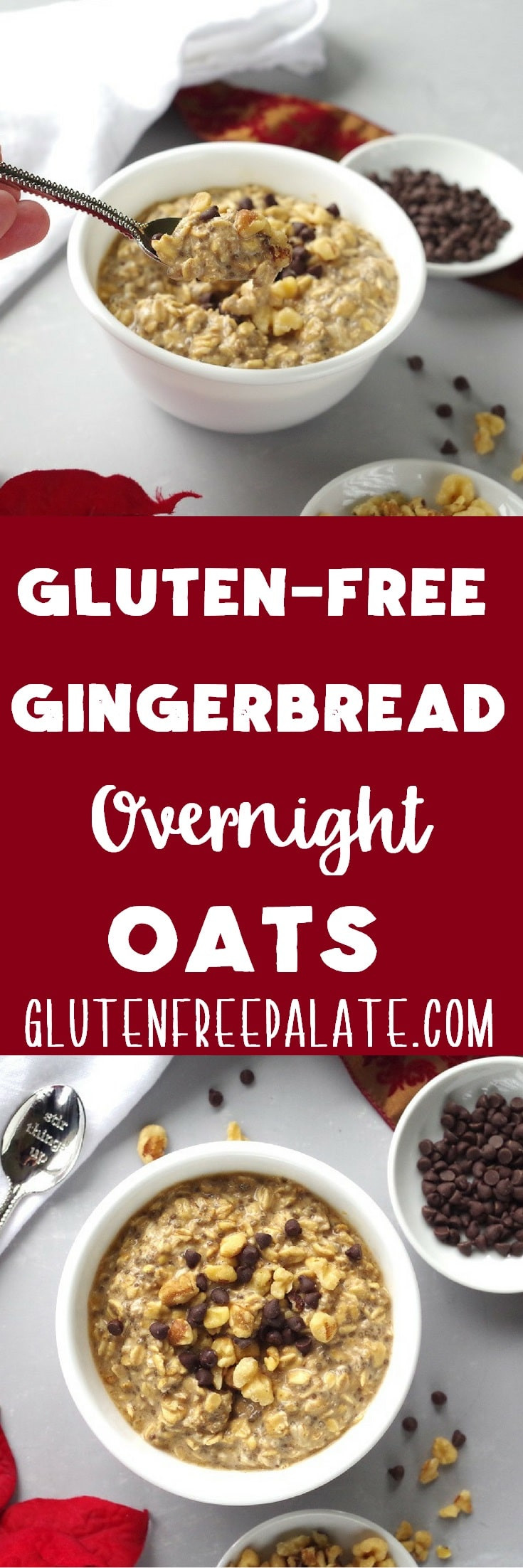 Dairy Free Overnight Oats  Gluten Free Gingerbread Overnight Oats