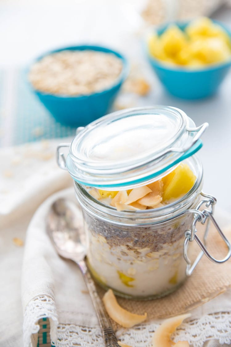 Dairy Free Overnight Oats  Dairy Free Pina Colada Overnight Oats Happy Food