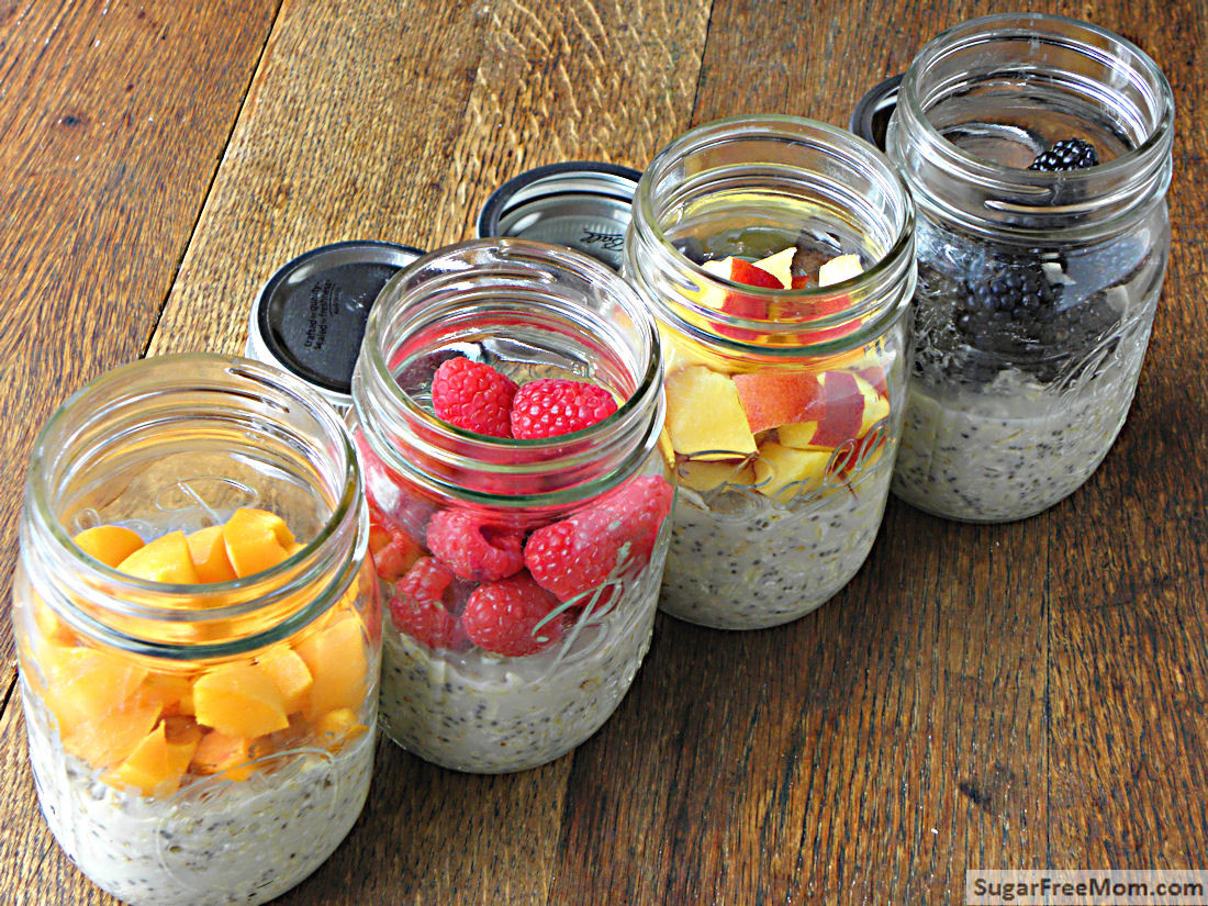 Dairy Free Overnight Oats  No Bake Dairy Free Sugar Free Overnight Oats