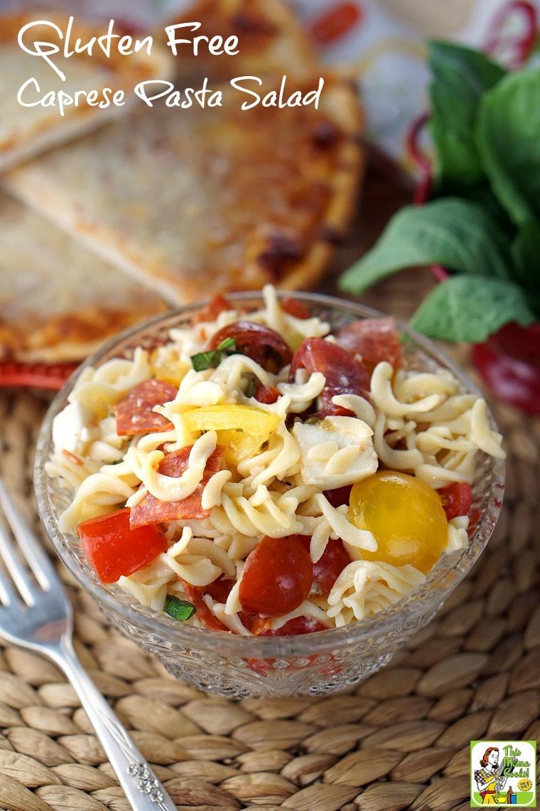 Dairy Free Pasta Salad  Gluten Free Caprese Pasta Salad