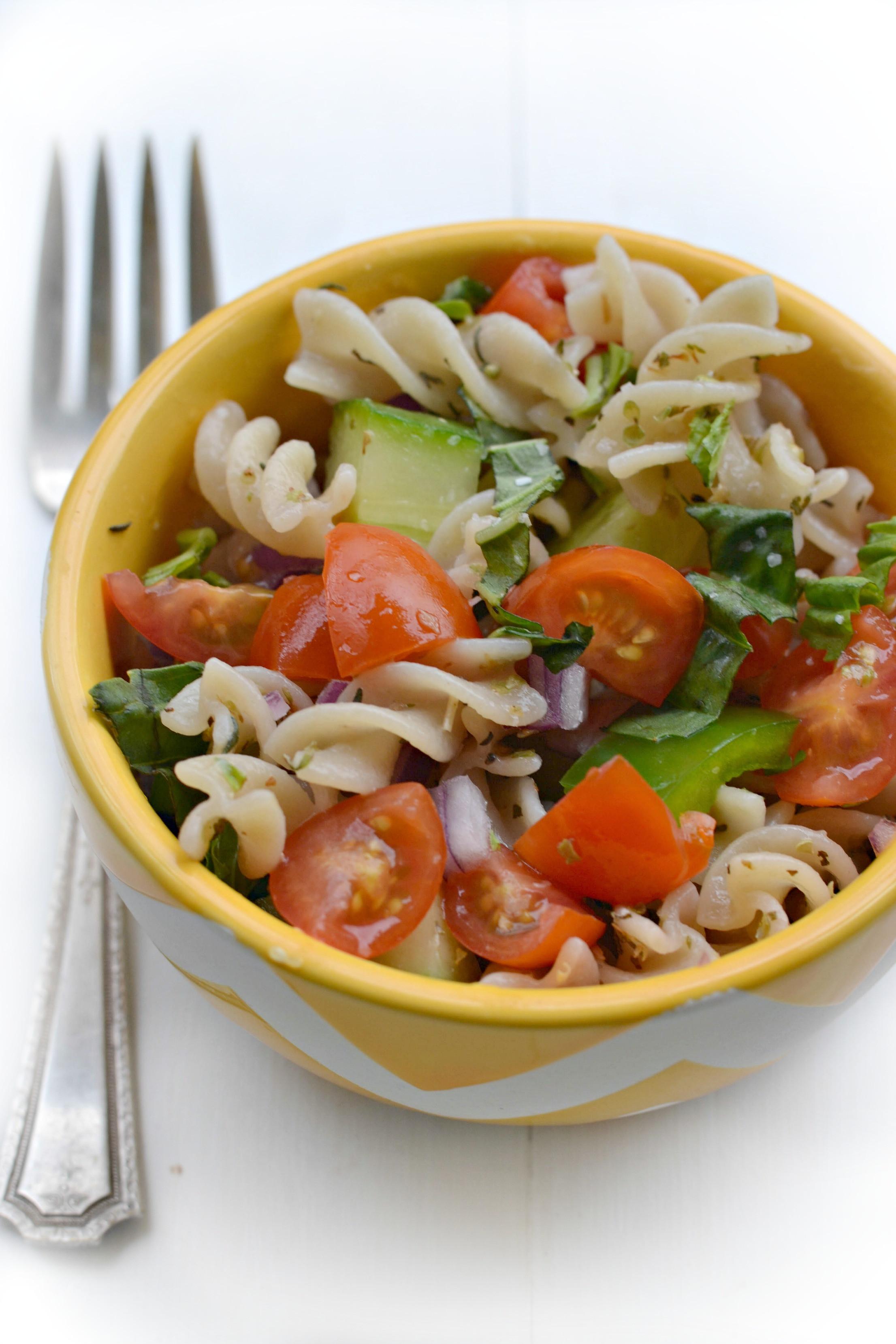 Dairy Free Pasta Salad  Gluten Free Garden Pasta Salad Fork and Beans