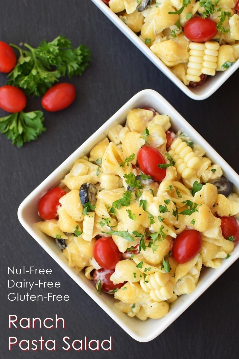 Dairy Free Pasta Salad  Dairy Free Ranch Pasta Salad Recipe
