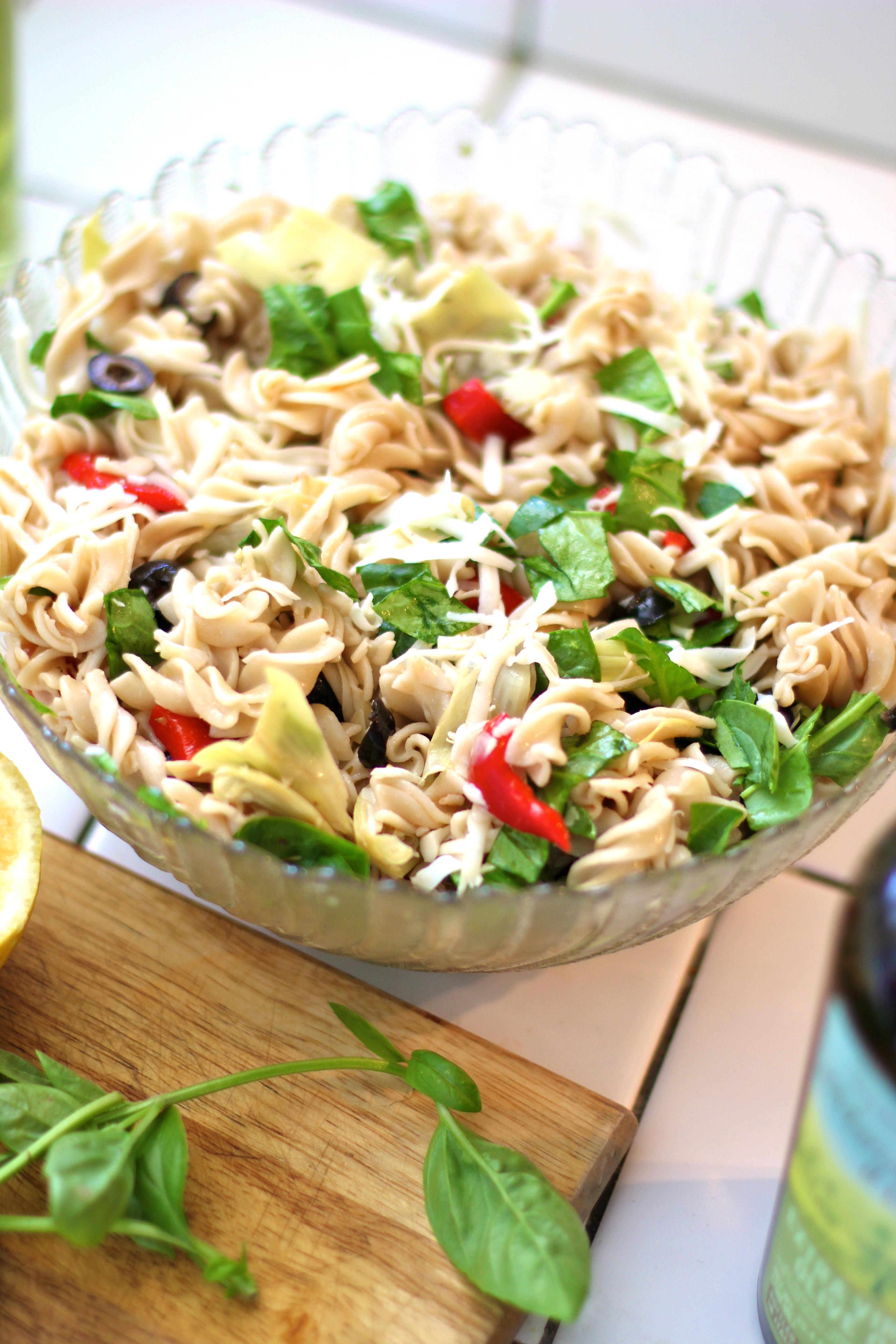 Dairy Free Pasta Salad  Mediterranean Pasta Salad A Gluten Free Dairy Free Full