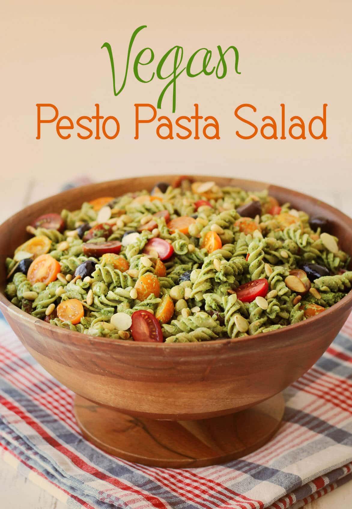 Dairy Free Pasta Salad  Vegan Pesto Gluten Free Pasta Salad