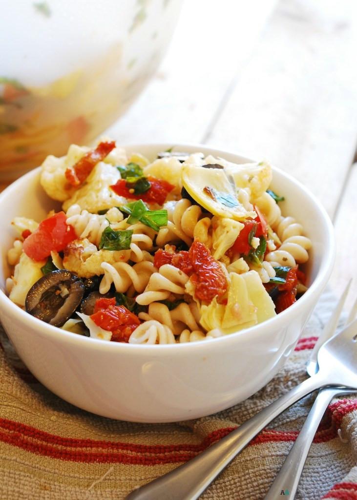 Dairy Free Pasta Salad  Roasted Cauliflower Pasta Salad Gluten dairy egg soy